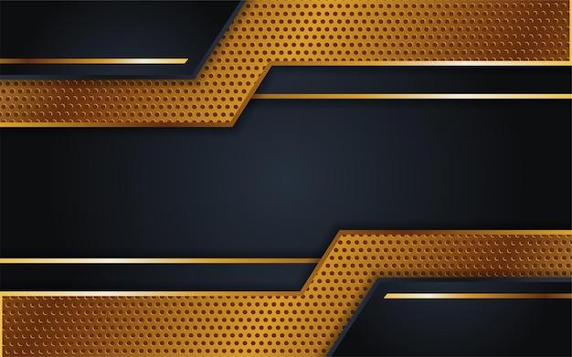 Luxe donkere achtergrondcombinatie met stiptextuurlijn goud
