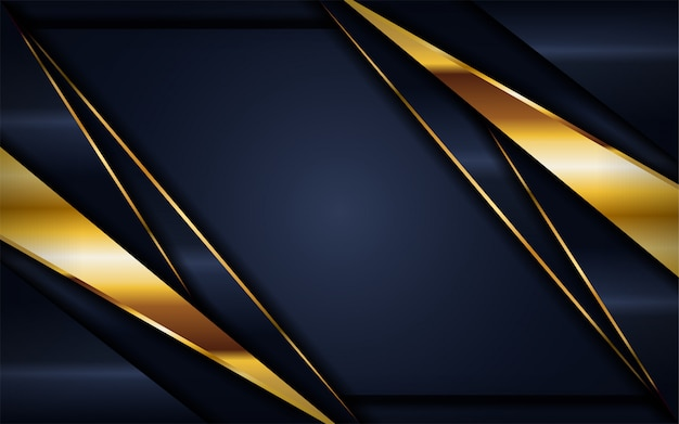 Luxe donkere marineachtergrond met gouden lijnen