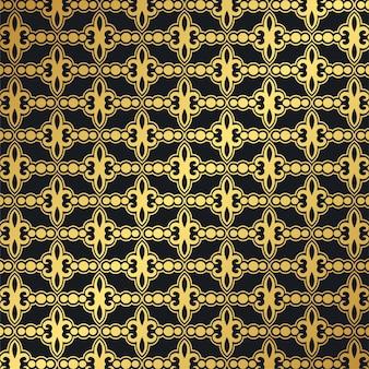 Luxe donkere naadloze patroonachtergrond