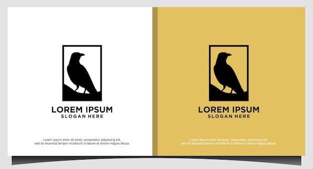 Luxe duif vogel logo ontwerpsjabloon
