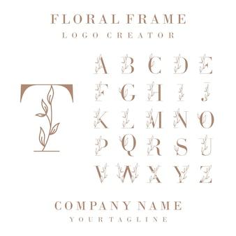 Luxe eerste logo-ontwerp