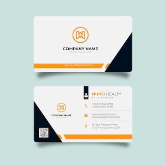 Luxe en elegant geel en zwart visitekaartje