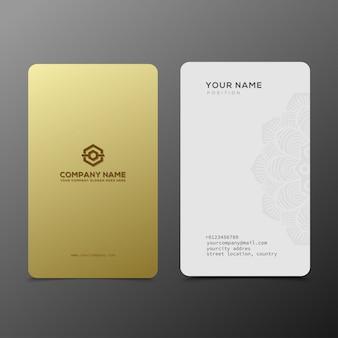 Luxe en elegant zwart goud visitekaartjes sjabloon
