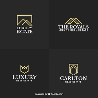 Luxe en elegante vastgoed logo