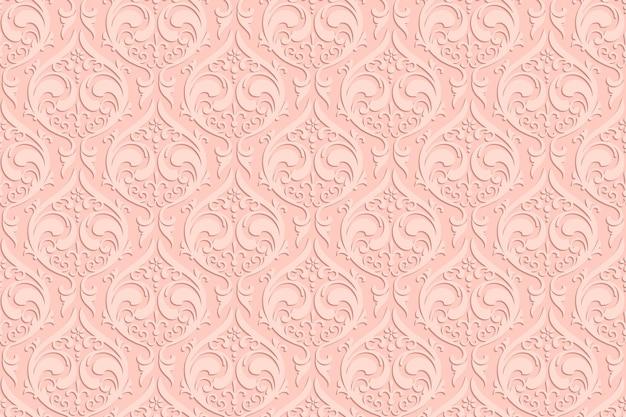 Luxe etnische gravures naadloze patroon met schaduw