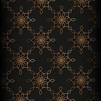 Luxe etnische stijl islamitisch naadloos patroon