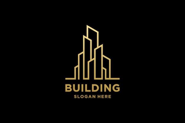 Luxe gebouw architectuur logo ontwerp