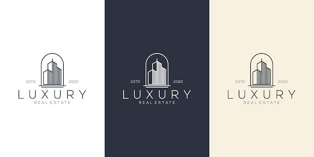 Luxe gebouw logo ontwerp