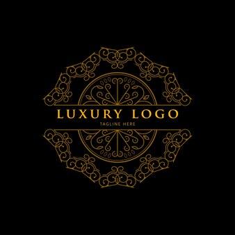 Luxe geometrisch gouden mandala-logo