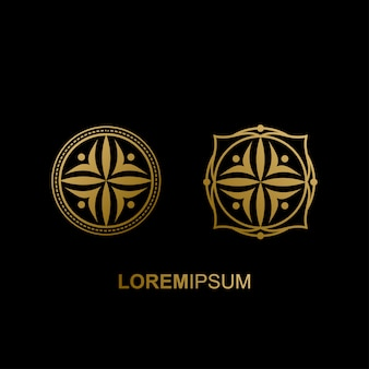 Luxe geometrisch logo-ontwerp