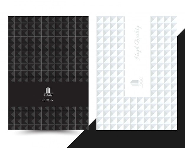 Luxe geometrisch omslagmenu