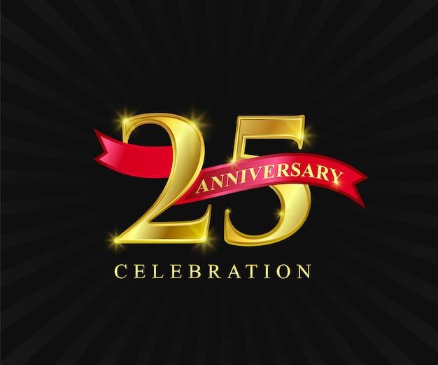 Luxe goud 25 verjaardag verjaardag jaar mijlpaal voltooiing viering