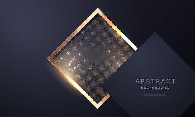 Luxe goud zwart moderne abstracte achtergrond