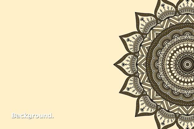 Luxe gouden achtergrond kleurrijke mandala