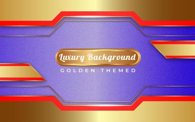 Luxe gouden achtergrond sjabloon speciaal gelukkig nieuwjaar