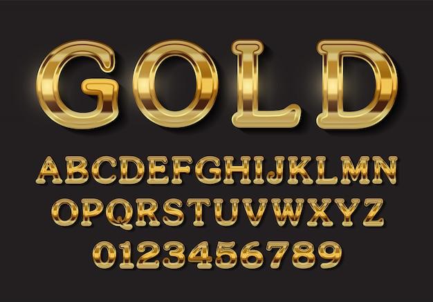 Luxe gouden alfabet