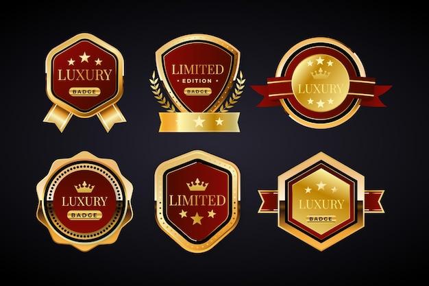 Luxe gouden badges collectie