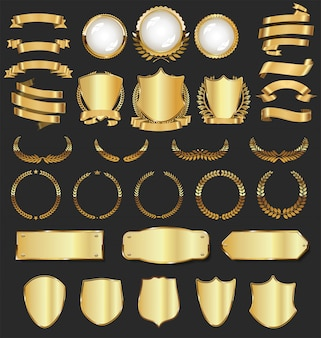 Luxe gouden badges en labels
