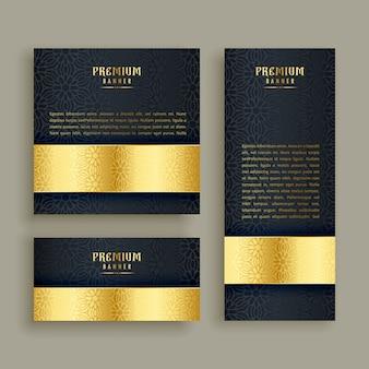 Luxe gouden banners decorontwerp