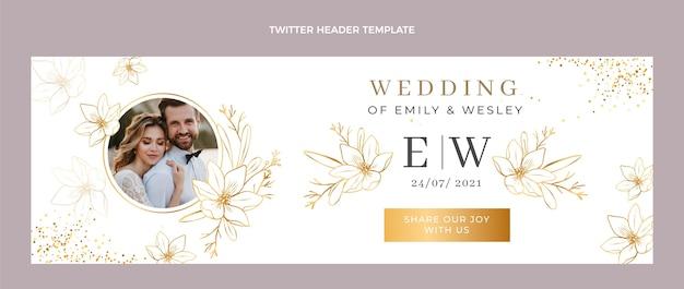Luxe gouden bruiloft twitter header