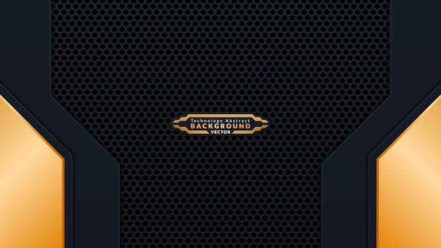 Luxe gouden en zwarte achtergrondontwerp