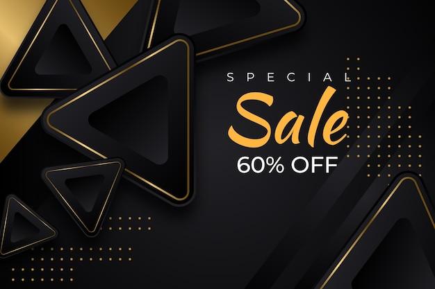 Luxe gouden en zwarte verkoopachtergrond