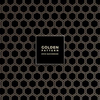 Luxe gouden geometrisch patroon, abstracte patroonachtergrond