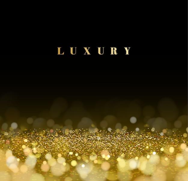 Luxe gouden glitter intreepupil bokeh achtergrond