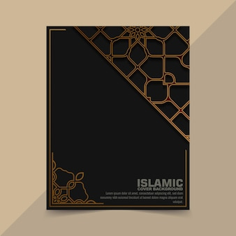 Luxe gouden islamitische patroonkaart