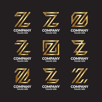 Luxe gouden letter z logo-collectie
