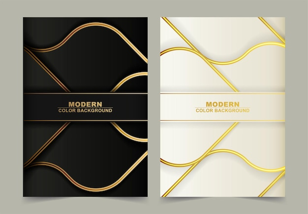Luxe gouden lijn abstracte golfdekking