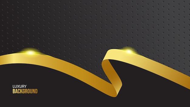 Luxe gouden lint op zwarte achtergrond