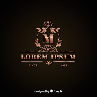 Luxe gouden logo sjabloon