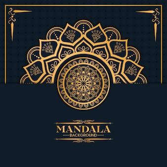 Luxe gouden mandala achtergrond