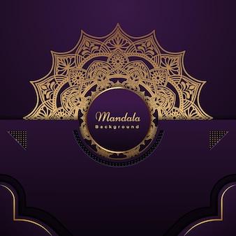 Luxe gouden mandala-achtergrond