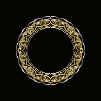 Luxe gouden mandala frame design. stijlvolle mandala bloemdessin vector.
