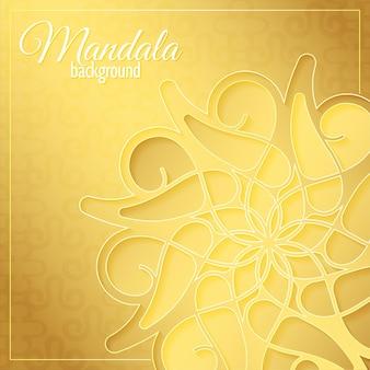 Luxe gouden mandala patroon achtergrond