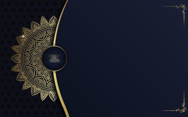Luxe gouden mandala sierlijke achtergrond