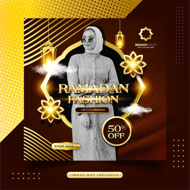 Luxe gouden ramadan fashion social media instagram-post