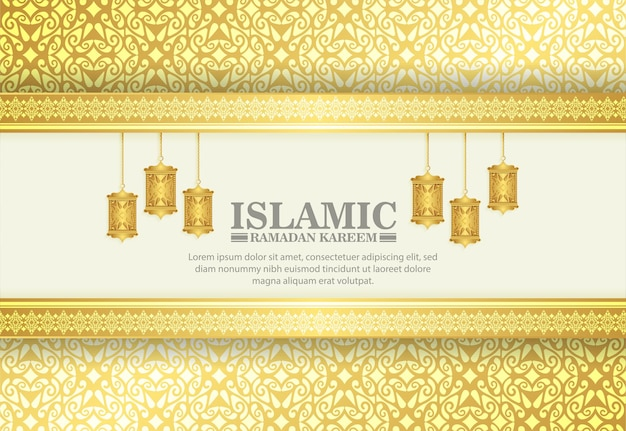 Luxe gouden ramadan kareem achtergrond