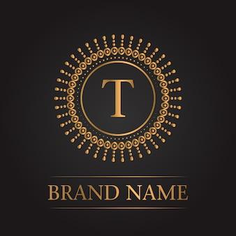 Luxe gouden sjabloon monogram