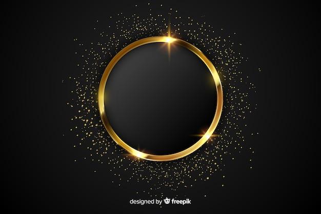 Luxe gouden sprankelende frame achtergrond