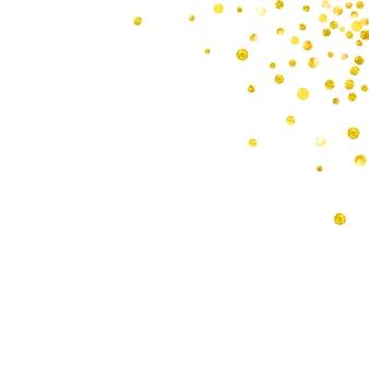 Luxe grens. gele romantische print. decoratief ontwerp. gouden regen flyer. plakboek illustratie. explosie tijdschrift. moeders deeltjes. gele luxe rand Premium Vector