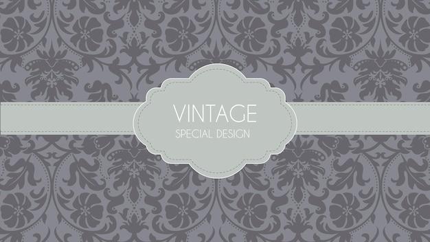 Luxe grijze retro decoratieve achtergrond