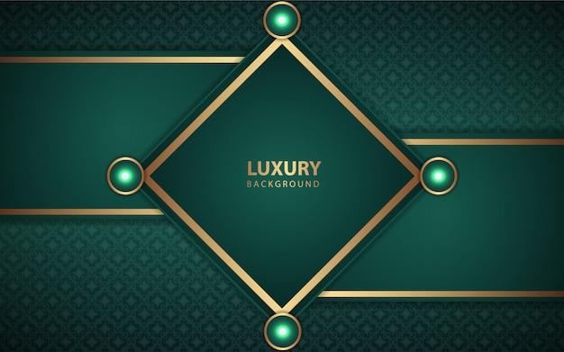 Luxe groen cirkelframe met gouden randen