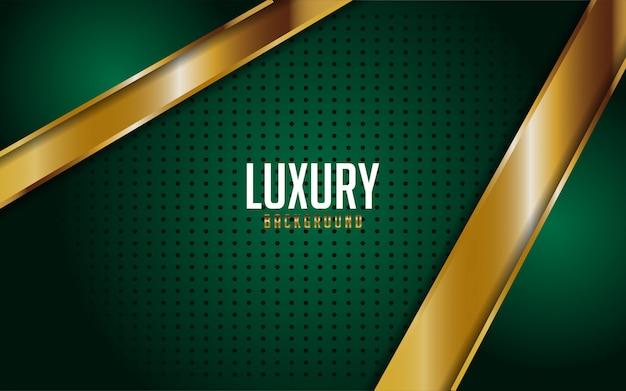 Luxe groen gecombineerd met gouden lijnen