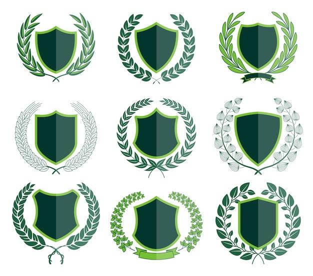 Luxe groene insignes laurel kransverzameling