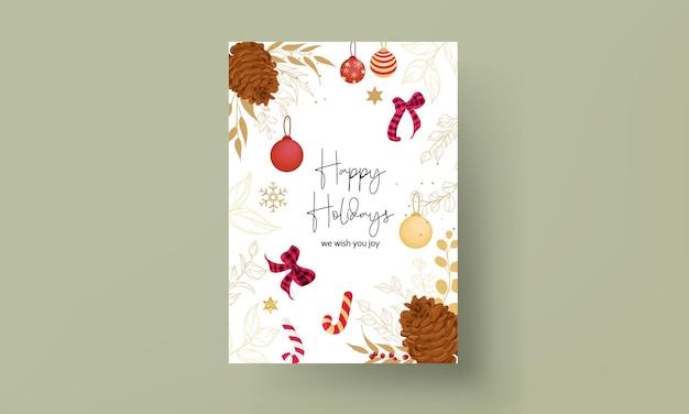 Luxe handgetekende vrolijke kerstkaart