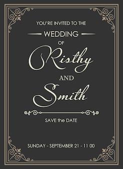 Luxe huwelijksuitnodiging