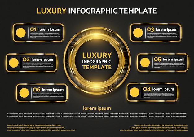 Luxe infographic sjabloon grafisch